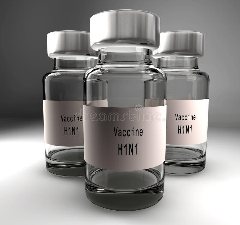 grypy szczepionka royalty ilustracja