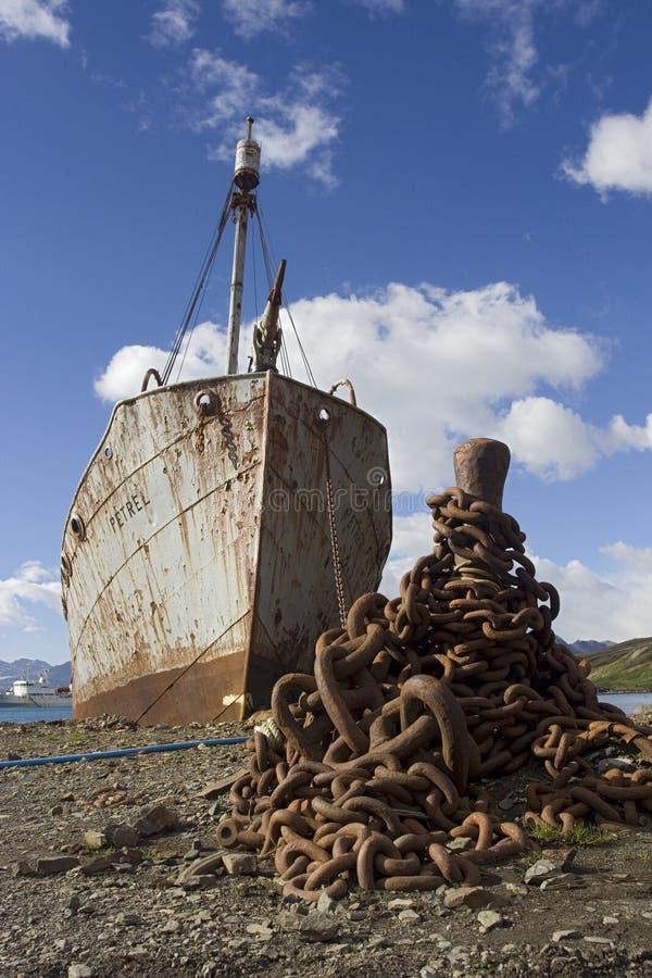 Grytviken南乔治亚, Grytviken Zuid乔治亚 免版税库存照片