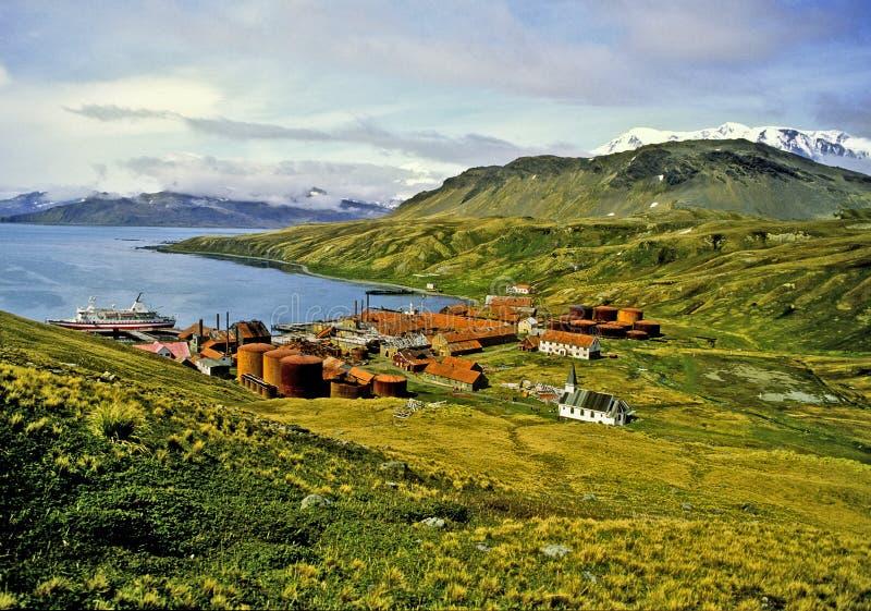Grytviken, Südgeorgia lizenzfreie stockbilder