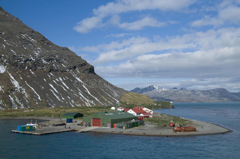 Grytviken Station - Südgeorgia stockfotografie