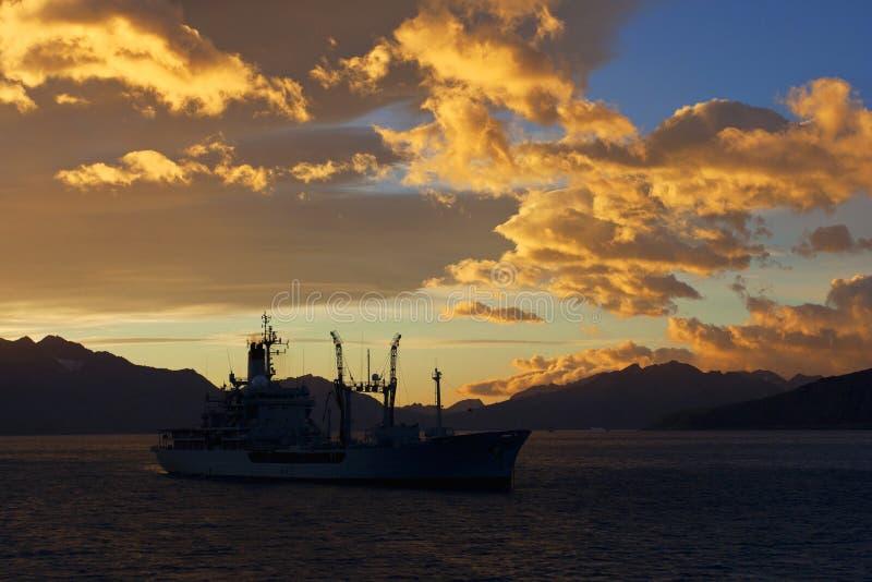Grytviken Zuid乔治亚, Grytviken南乔治亚 图库摄影
