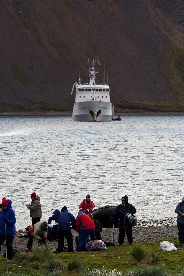 Grytviken Zuid乔治亚, Grytviken南乔治亚 库存照片