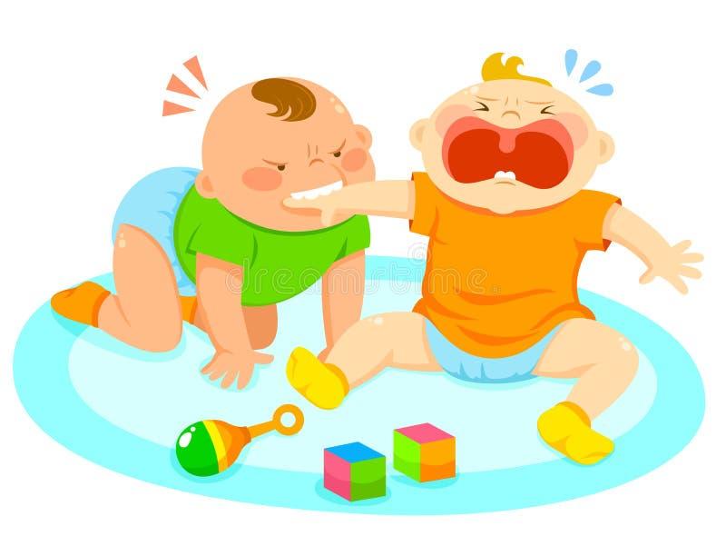 gryzienie dziecka ilustracji