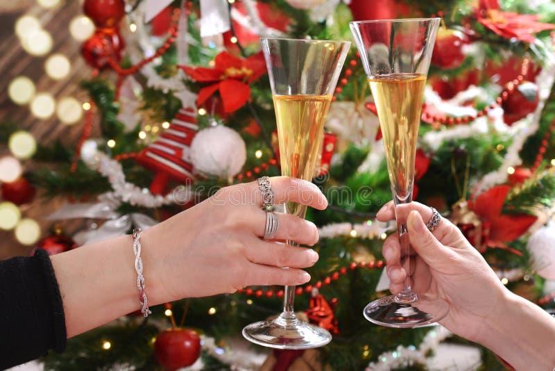 Grzanka dla szczęśliwego nowego roku zdjęcie stock