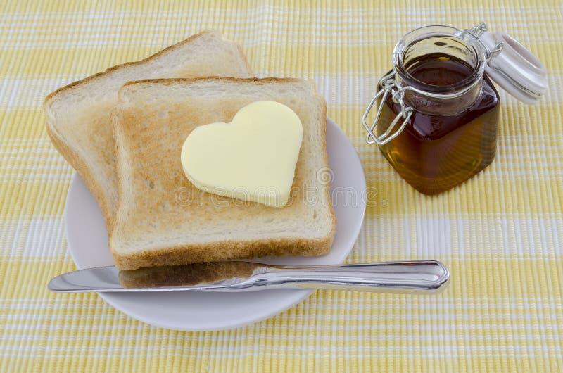 Grzanka z masłem fotografia stock