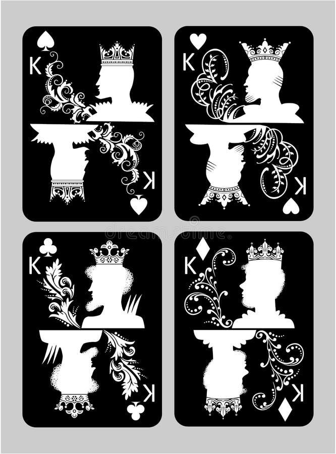Grzebak grępluje królewiątko set ilustracji
