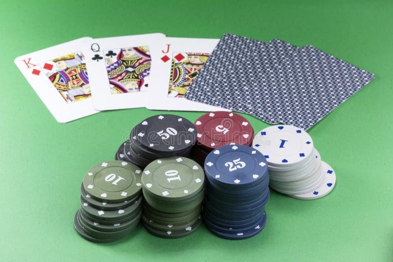 Grzebak karty i układy scaleni fotografia royalty free