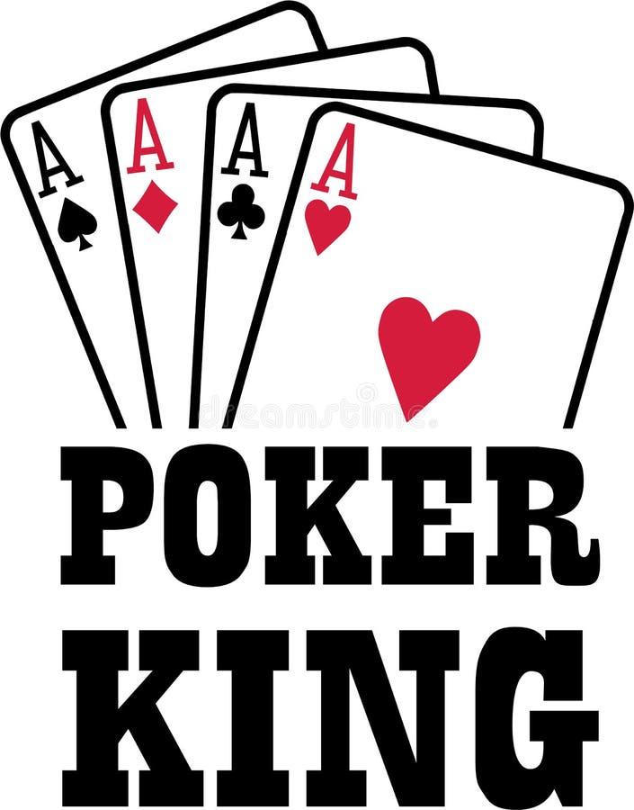Grzebaka królewiątko z cztery as grań kartami nadaje się ilustracja wektor