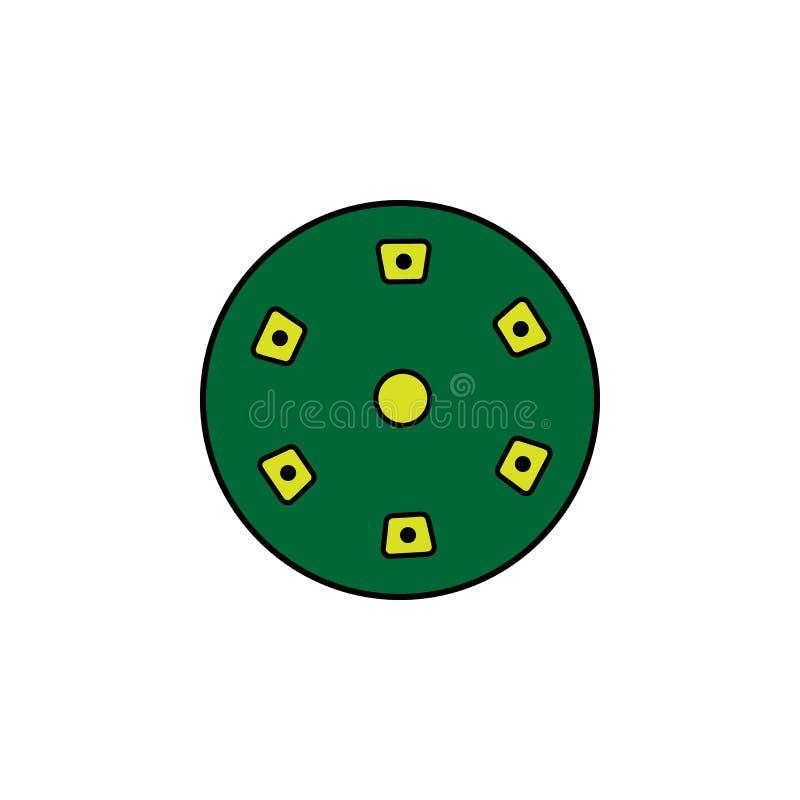 Grzebaka układ scalony Element kasynowa ikona dla mobilnych pojęcia i sieci apps Szczegółowy grzebaka układ scalony może używać d ilustracja wektor