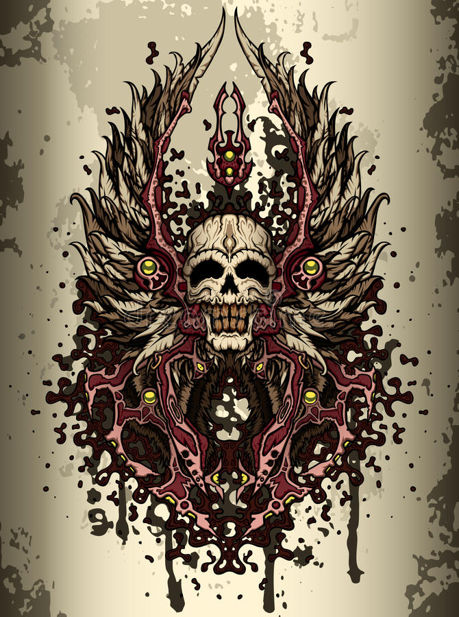 grzebień czaszka
