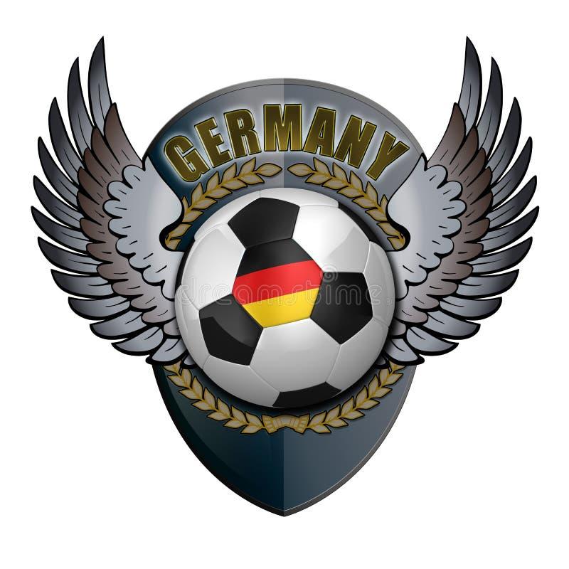 grzebień Germany ilustracja wektor