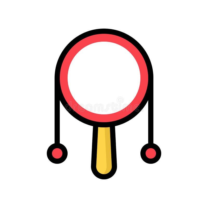 Grzechocze bębenu wektor, Chiński nowy rok odnosić sie wypełniający stylowej ikony editable uderzenie ilustracja wektor