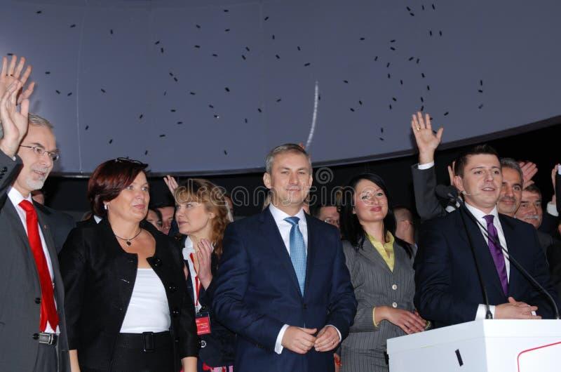 Grzegorz Napieralski, chairman SLD royalty free stock photo