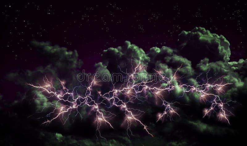 Grzmot w chmurach obrazy royalty free