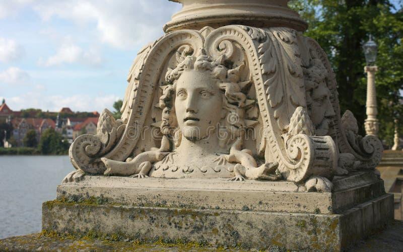 Grzywna dekorujący lampion - Ja Schwerin kasztel - zdjęcie stock