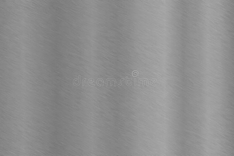 Grzywna szczotkująca okrzesana aluminiowa stal nierdzewna zdjęcia royalty free