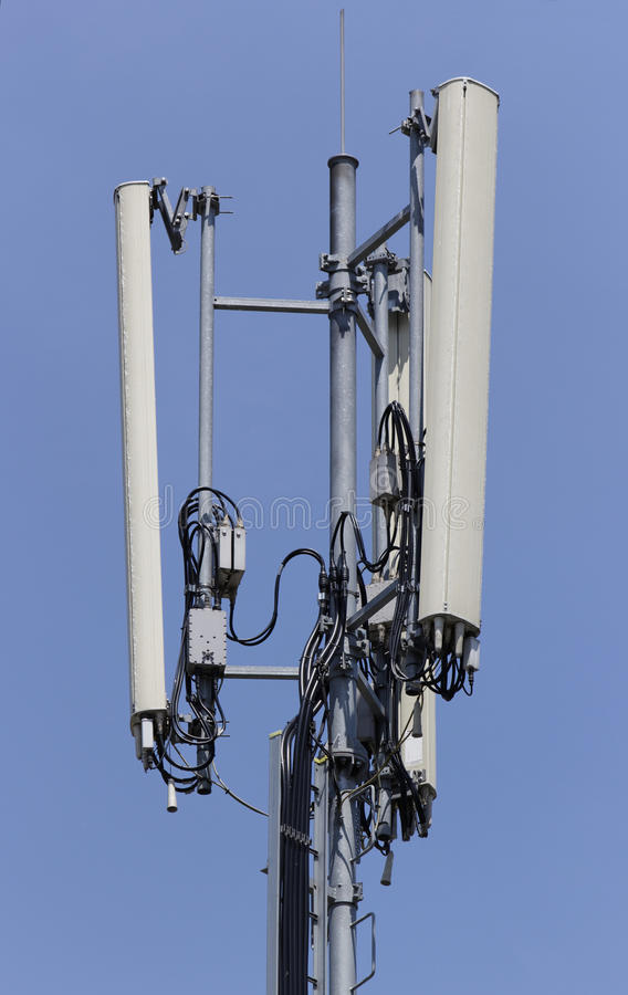 GSM Antenna. Against blue sky royalty free stock image