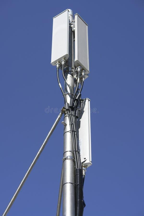 GSM antenna. On the pole stock photos
