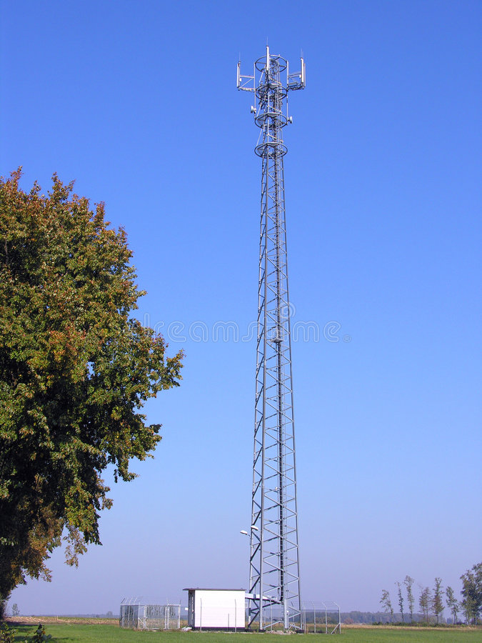 GSM antenna station royalty free stock photography