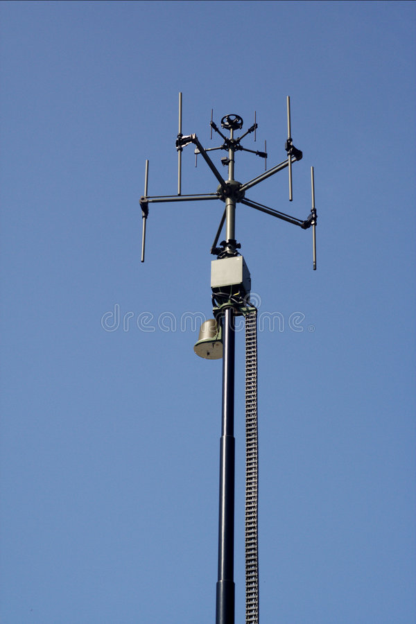 GSM antenna station stock image