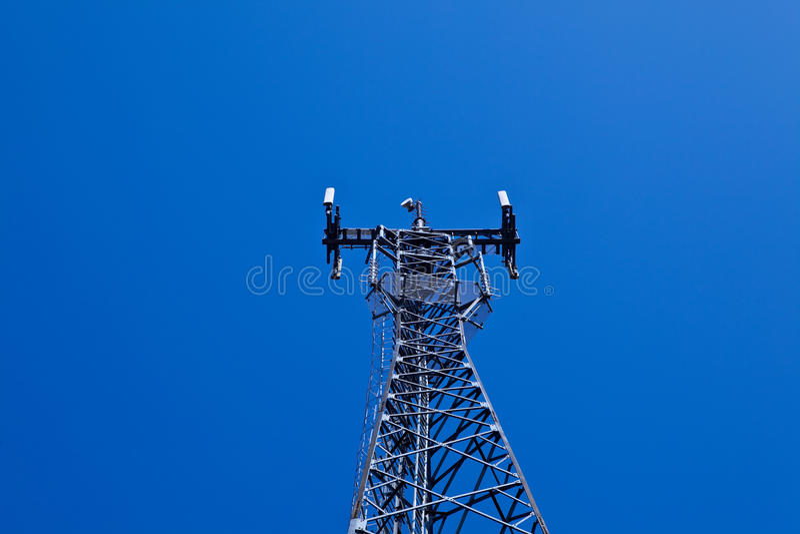 GSM cellsite antenna array royalty free stock photography