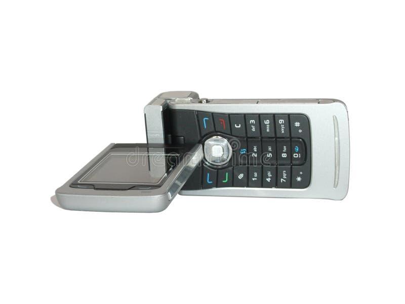 GSM mobiele telefoon met nok stock foto