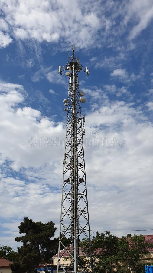 GSM Mobile Operator Base Station Tower Stock Image - Image