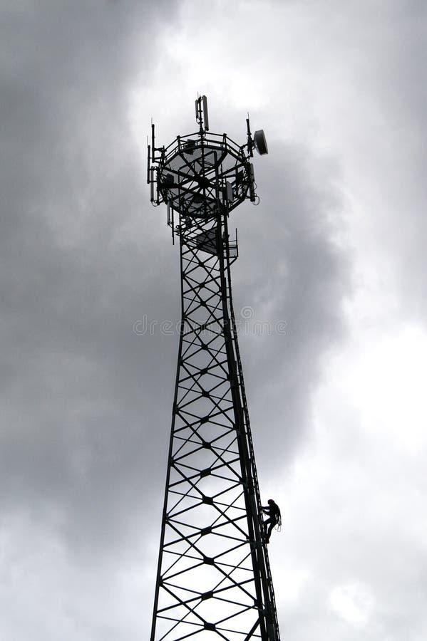 GSM reciver wierza, technican arywista fotografia royalty free