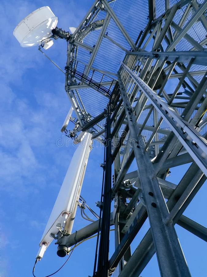GSM reciver wierza, technican arywista fotografia stock