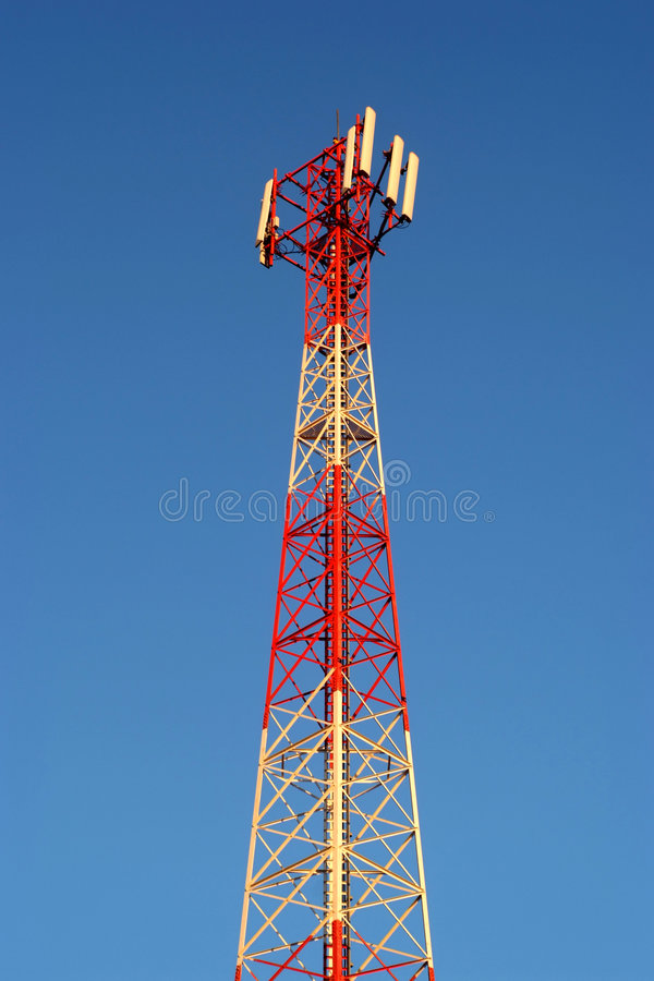 Download Gsm transmitter stock image. Image of broadcasting, angle - 3245585