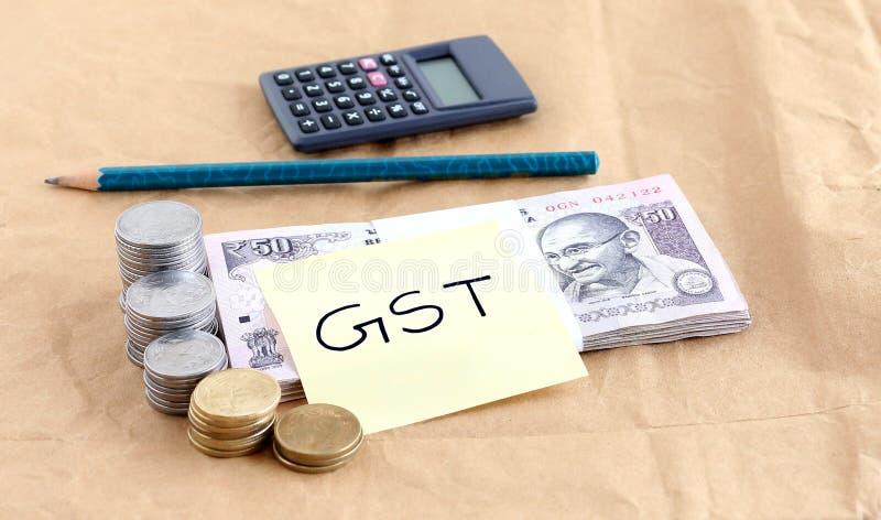 GST或者商品和服务税,概念 库存照片