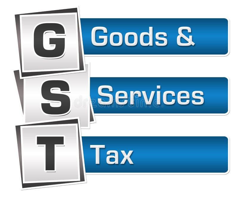GST - Bleu Grey Squares Vertical d'impôts de biens et de services illustration de vecteur