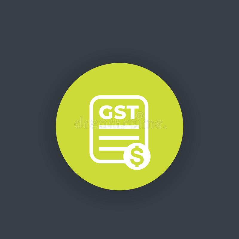GST, goods and service tax, payroll stock illustration