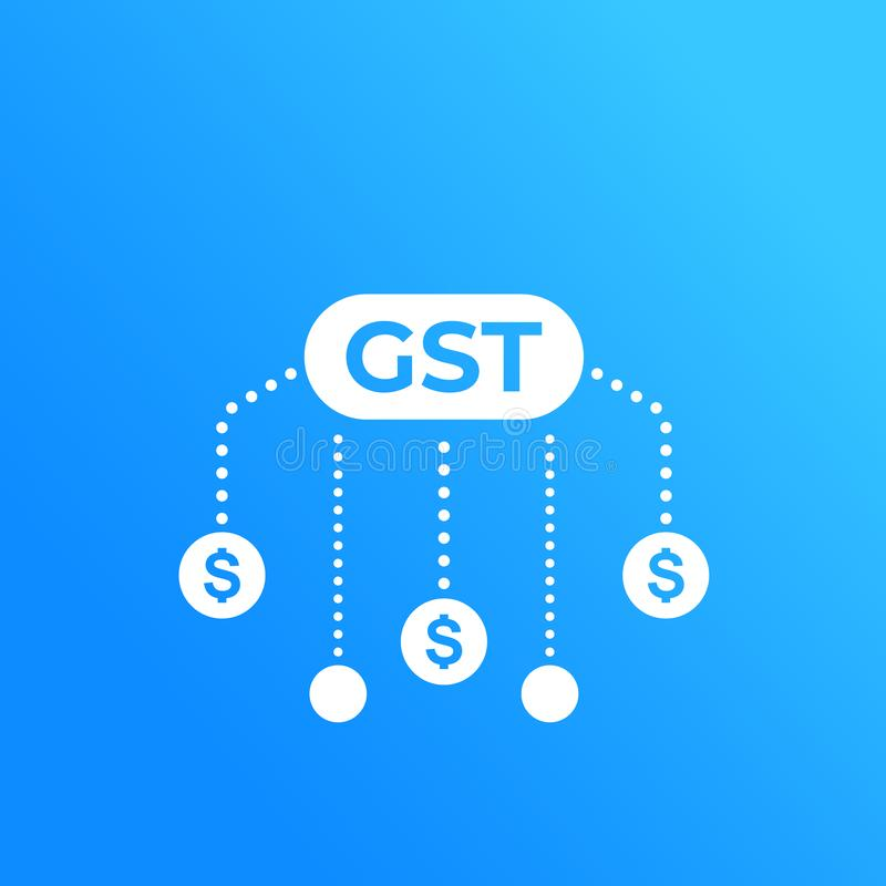 GST, goods and service tax, taxation royalty free illustration