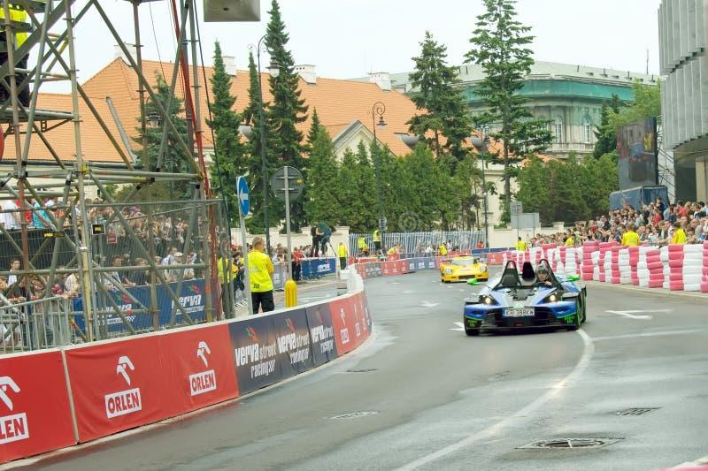 GT cars race at Verva Street Racing 2011 stock photos