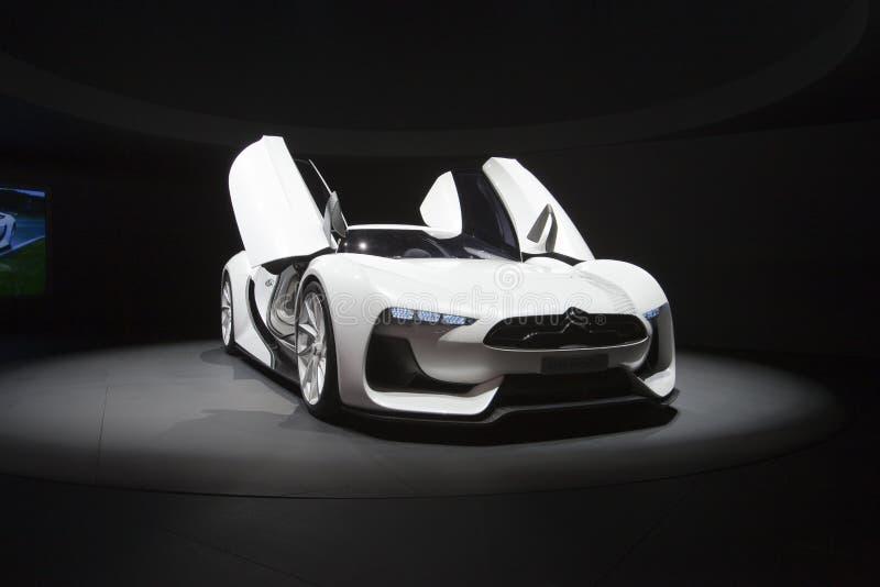GT-durch-Citroen Konzeptauto - Genf-Autoausstellung 2009 lizenzfreies stockbild