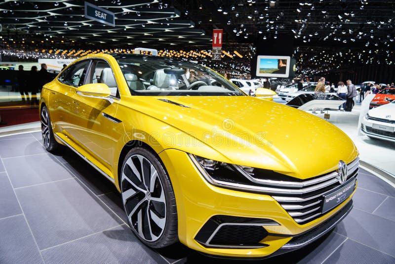GTE de concept de coupé de sport de VOLKSWAGEN, Salon de l'Automobile Geneve 2015 photographie stock