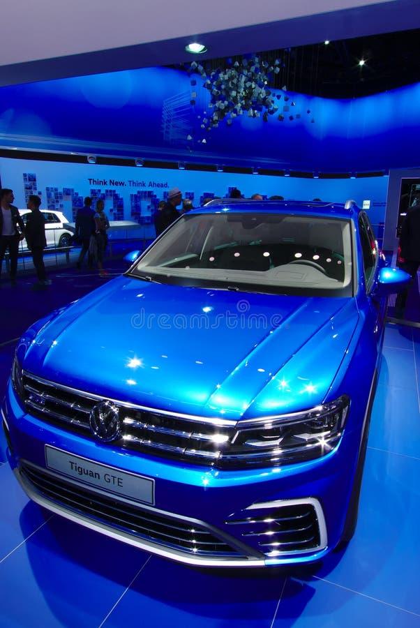 GTE de VW Tuguan aux voitures d'IAA photos libres de droits