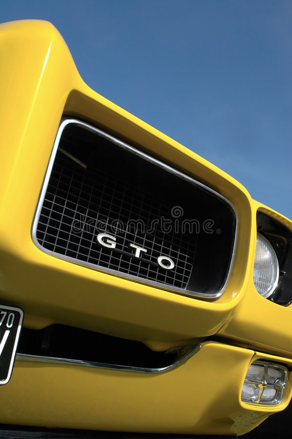 GTO. Front fender and grill vintage GTO muscle car