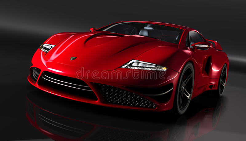 Gtvz red supercar royalty free illustration