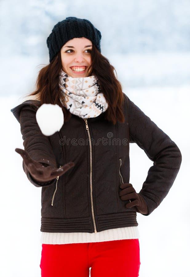 Guárdese de la bola de nieve foto de archivo libre de regalías