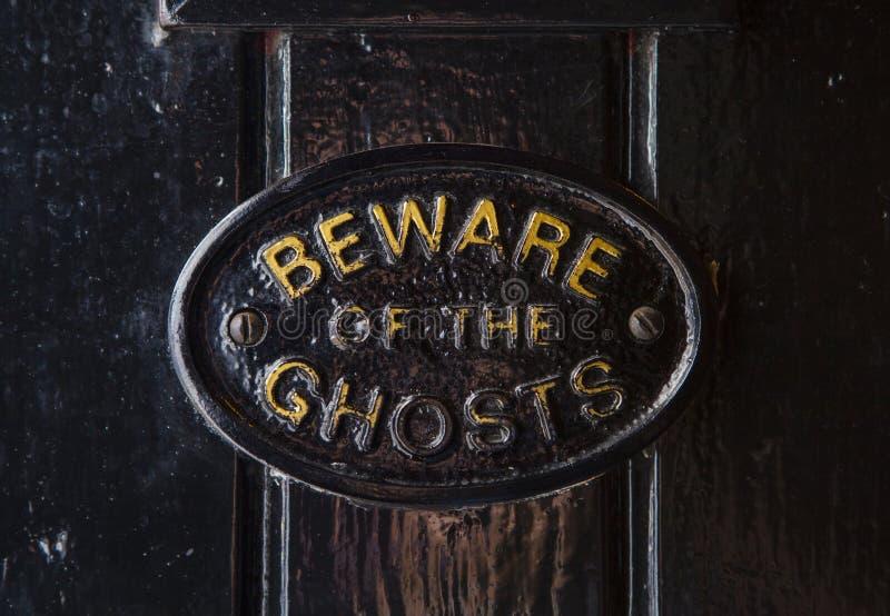 Guárdese de los fantasmas fotografía de archivo libre de regalías