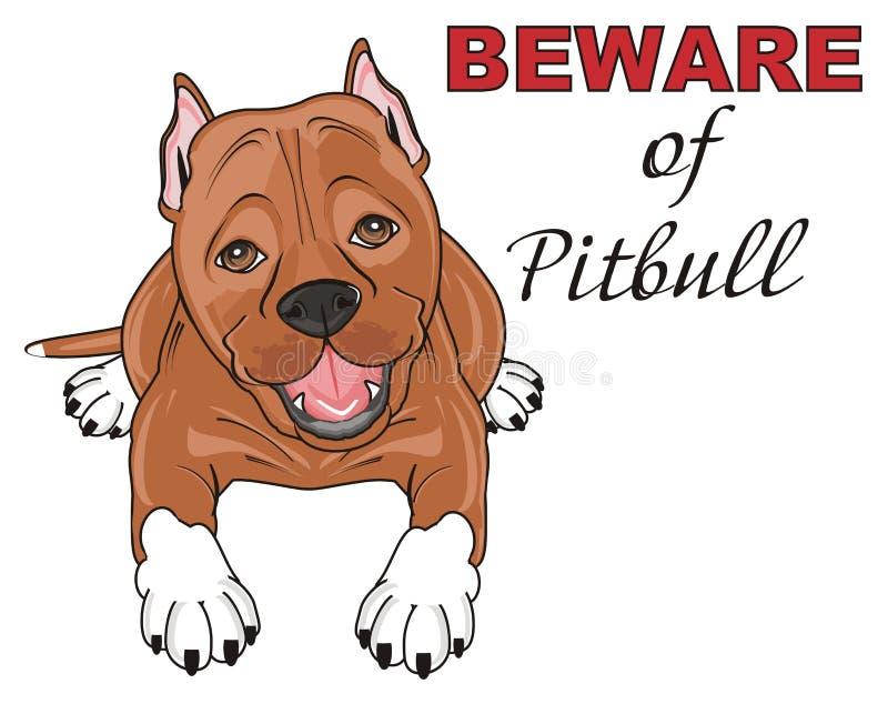 Guárdese de pitbull stock de ilustración