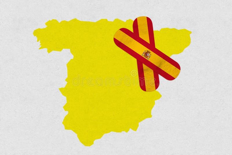 Guérissez l'Espagne illustration stock