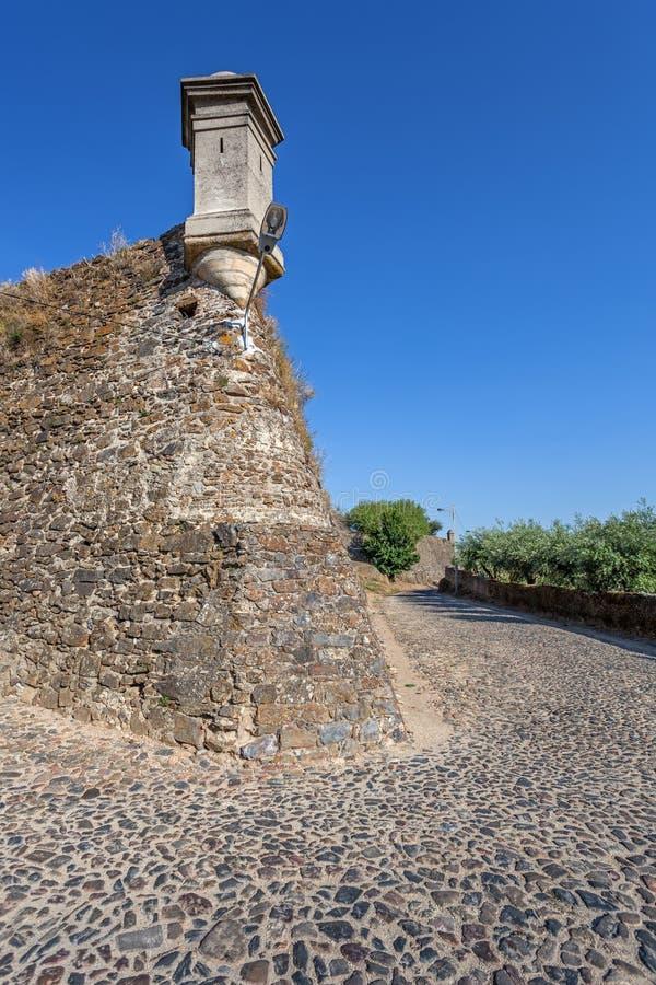 Guérite construite sur le mur de Forte de Sao Roque Fort image stock