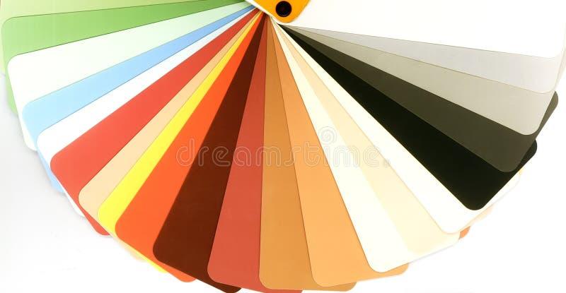 Guía abierta del color para el yeso en blanco imagenes de archivo