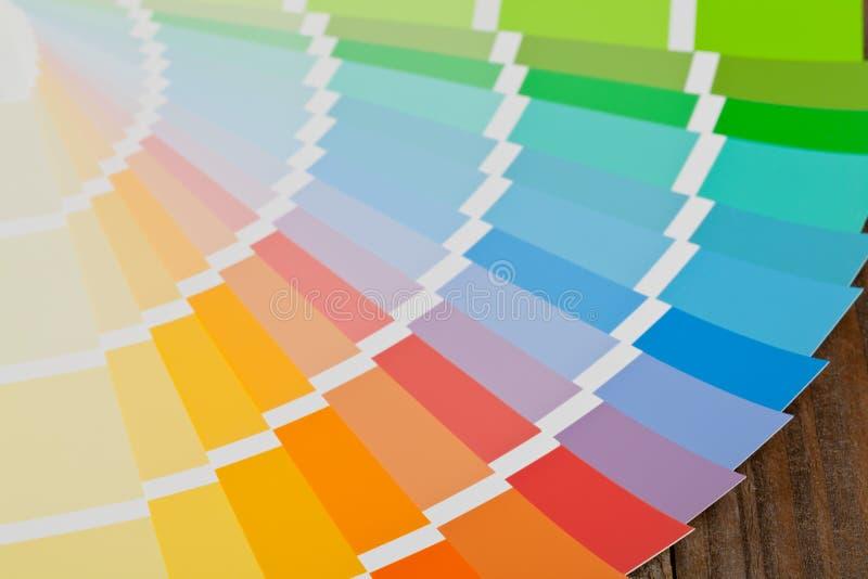 Guía de la carta de color fotografía de archivo