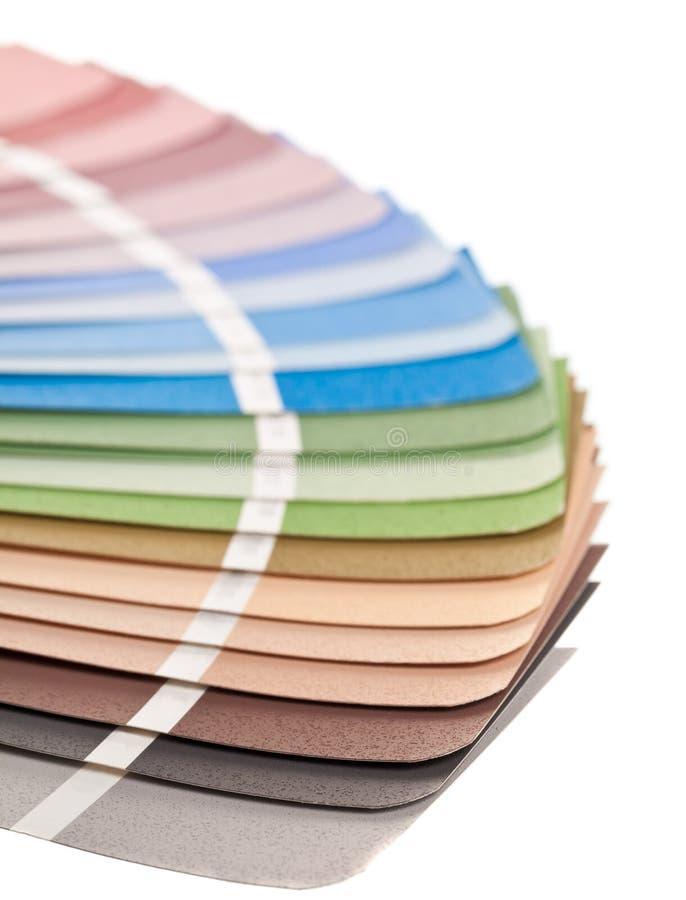 Guía de la carta de color foto de archivo