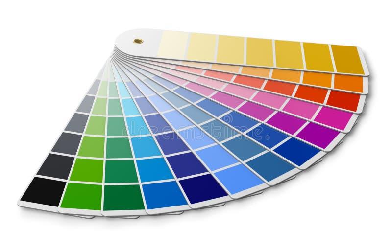 Guía de la gama de colores de color de Pantone ilustración del vector