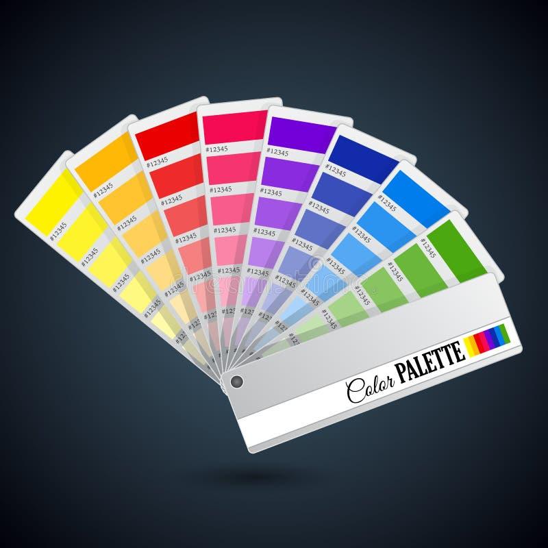 Guía de la gama de colores de color Tarjetas de catálogo libre illustration